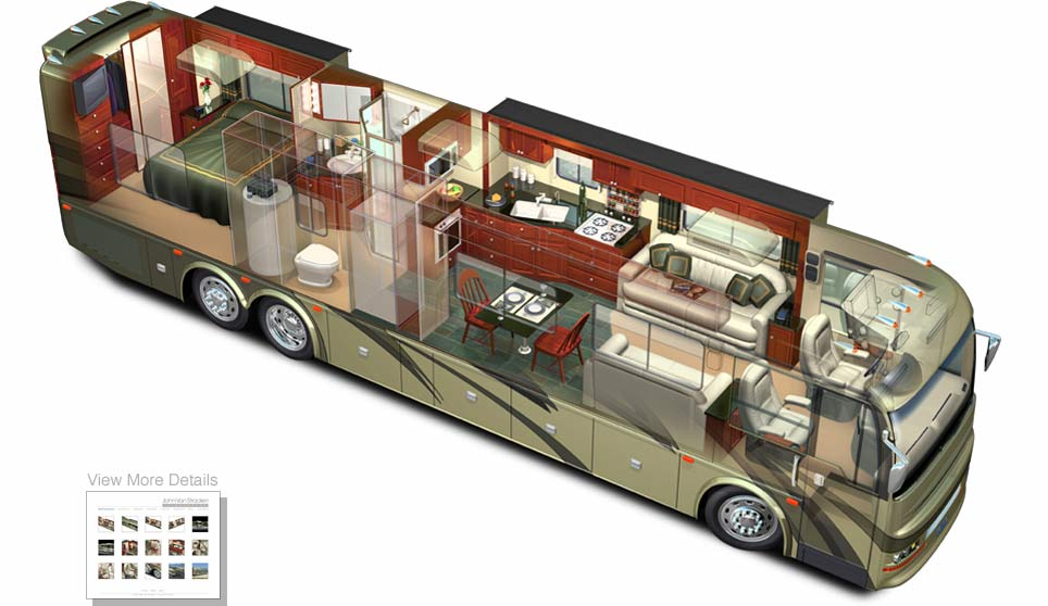 3D Model Of Motorhome Phantom View